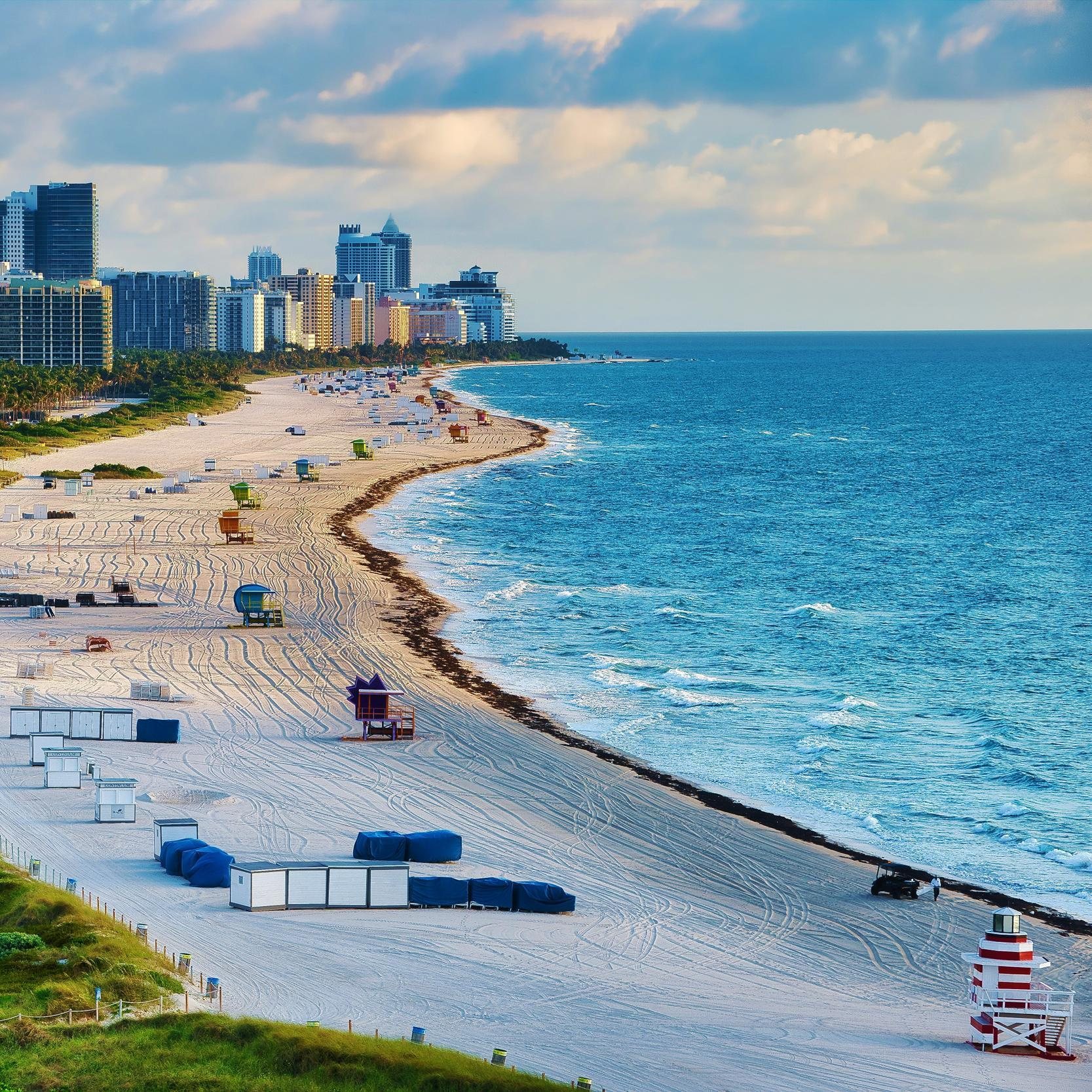 Descansa en las playas de Miami Beach