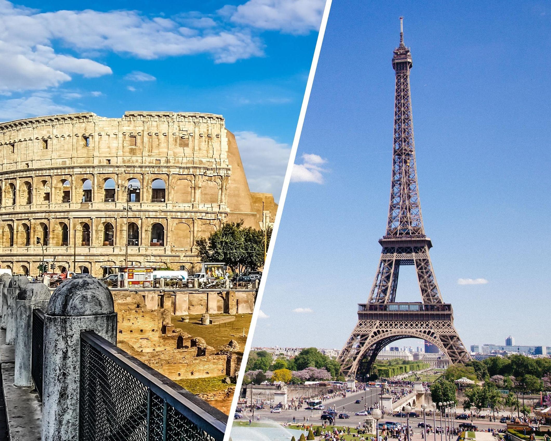 Viaje por París, Berlín y Roma